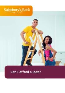 Can I afford a loan?