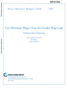 Can Minimum Wages Close the Gender Wage Gap?