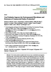 Can Probiotics Improve the Environmental Microbiome and Resistome of Commercial Poultry Production?