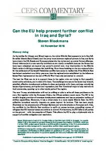 Can the EU help prevent further conflict in Iraq and Syria?