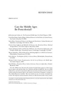 Can the Middle Ages Be Postcolonial?