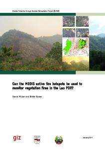 Can the MODIS active fire hotspots be used to monitor vegetation fires in the Lao PDR?