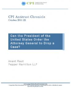 Can the President of the United States Order the Attorney General to Drop a Case?