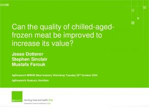Can the quality of chilled-agedfrozen meat be improved to increase its value?