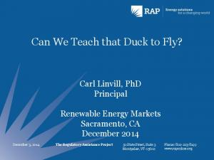 Can We Teach that Duck to Fly?
