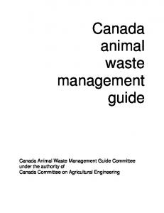 Canada animal waste management guide