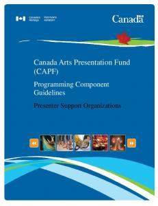 Canada Arts Presentation Fund (CAPF)