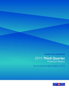 CANADA POST CORPORATION Third Quarter. Financial Report