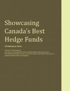Canada s Best Hedge Funds