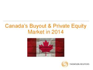 Canada s Buyout & Private Equity Market in 2014