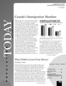 Canada s Immigration Mandate