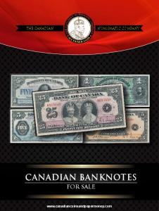 Canadian banknotes. for sale