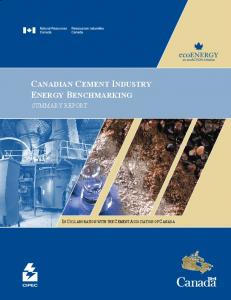CANADIAN CEMENT INDUSTRY ENERGY BENCHMARKING