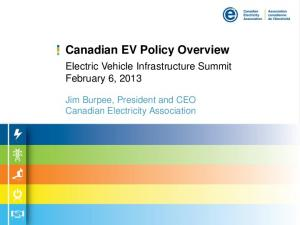 Canadian EV Policy Overview