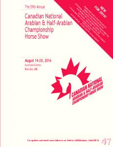 Canadian National Arabian & Half-Arabian Championship Horse Show