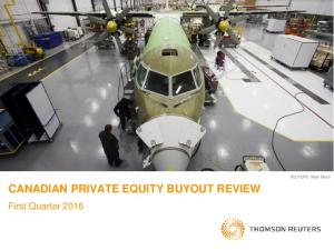CANADIAN PRIVATE EQUITY BUYOUT REVIEW