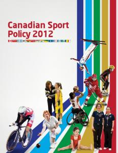 Canadian Sport Policy 2012