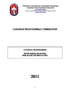 CANADIAN TEAM HANDBALL FEDERATION