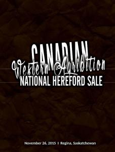 canadian western agribition hereford sale