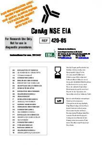 CanAg NSE EIA For Research Use Only. Not for use in diagnostic procedures. REF