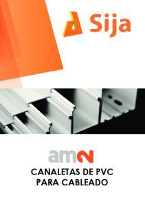 CANALETAS DE PVC PARA CABLEADO