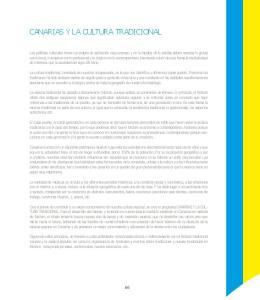 CANARIAS Y LA CULTURA TRADICIONAL