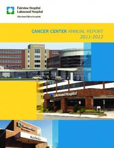 CANCER CENTER ANNUAL REPORT