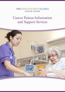 CANCER CENTRE. Cancer Patient Information and Support Services