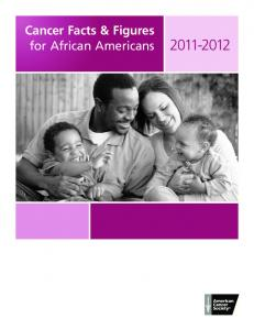 Cancer Facts & Figures for African Americans