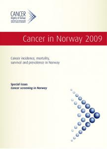 Cancer in Norway 2009