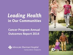 Cancer Program Annual Outcomes Report 2014
