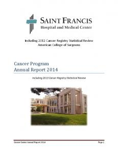 Cancer Program Annual Report 2014