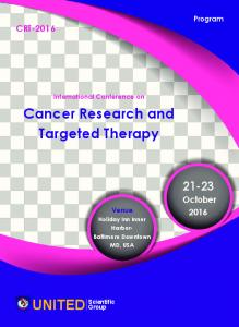 Cancer Research and Targeted Therapy