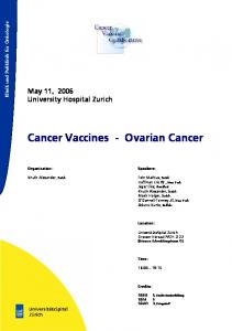 Cancer Vaccines - Ovarian Cancer