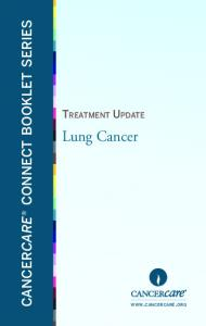 CANCERCARE CONNECT BOOKLET SERIES. Lung Cancer
