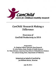 CanChild: Research Making a Difference