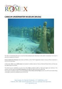CANCUN UNDERWATER MUSEUM (MUSA)