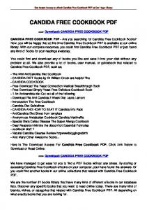 CANDIDA FREE COOKBOOK PDF