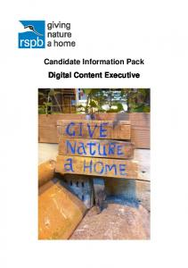 Candidate Information Pack Digital Content Executive