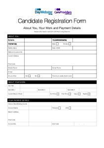 Candidate Registration Form