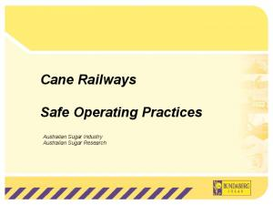 Cane Railways Safe Operating Practices