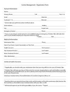 Canine Management - Registration Form
