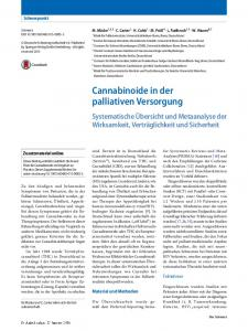 Cannabinoide in der palliativen Versorgung