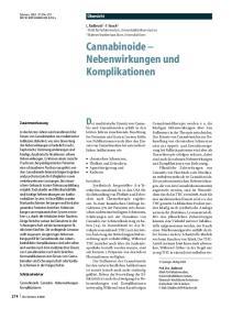 Cannabinoide Nebenwirkungen und Komplikationen