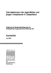 Cannabiskonsum der Jugendlichen und jungen Erwachsenen in Deutschland