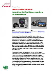 Canon brings Dual Flash Memory recording to SD camcorder range