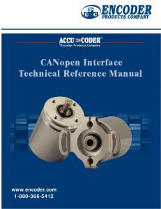 CANopen Interface Technical Reference Manual