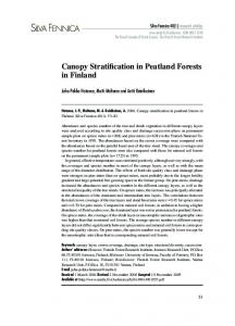 Canopy Stratification in Peatland Forests in Finland