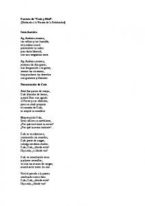 Cantata de Caín y Abel. (Dedicada a la Vicaría de la Solidaridad) Introducción