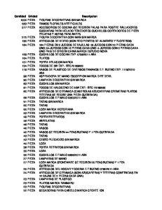 Cantidad Unidad Descripcion 1000 PIEZA FIGURAS DECORATIVAS SIN MARCA 583 PIEZA RAMOS FLORALES ARTIFICIALES 577 PIEZA ACCESORIOS DE COCINA (SE RECIBEN